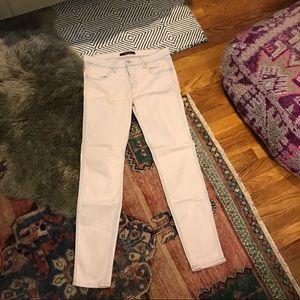 J Brand pink washed skinny jeans